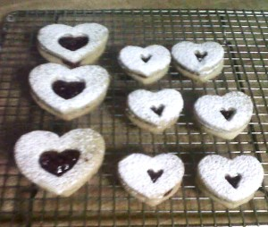 linzer heart cooki