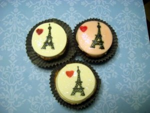 How To Make Fondant Eiffel Tower Cupcake Toppers